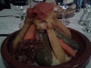 Cuscús en restaurante Le Nabab