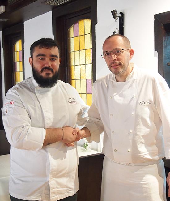Cesar Galan con Etienne