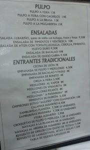 restaurante pulpería Albariño, Valladolid