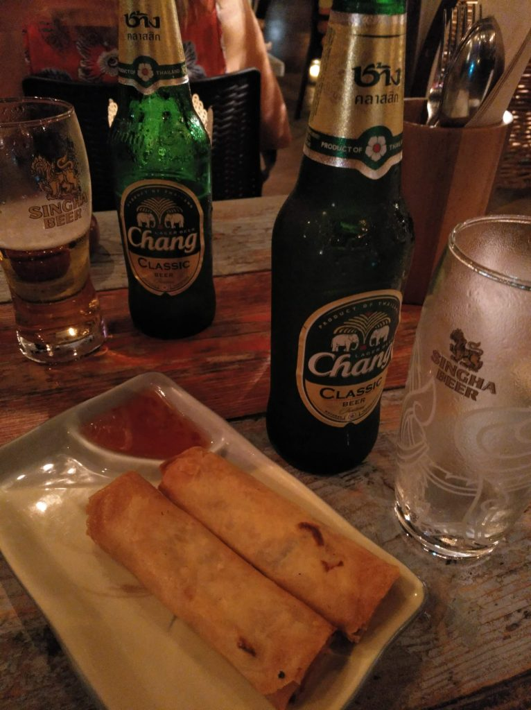 rollos en restaurante tailandés Monsoon Thai