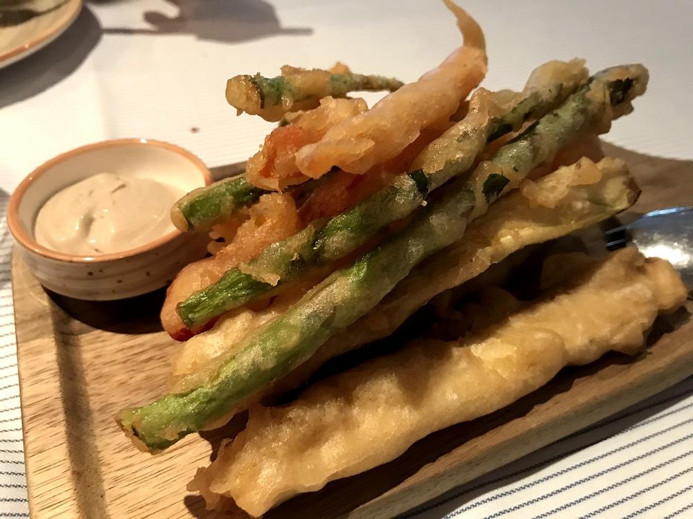 Vespok tempura de verduras