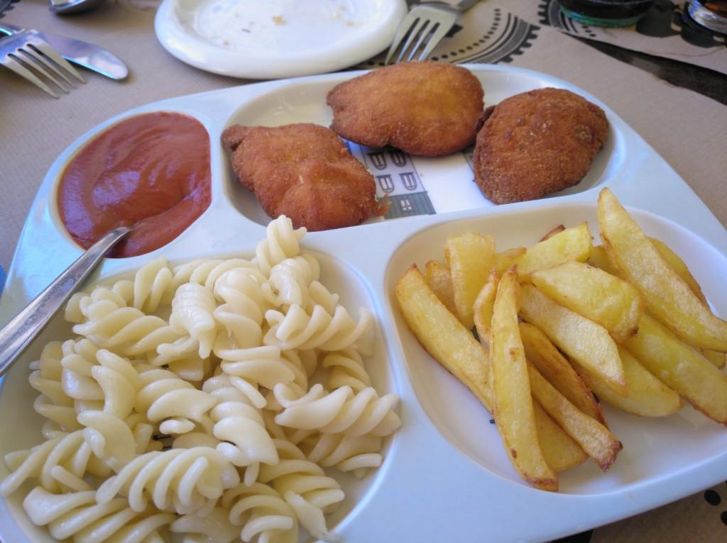 menú de niños