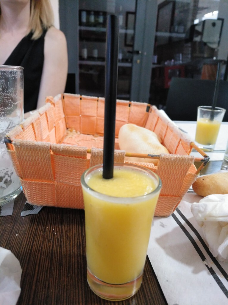 sorbete de mandarina en El Lindero