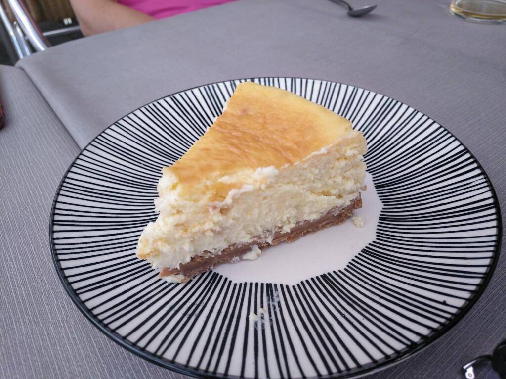 tarta de queso en La Golondrina